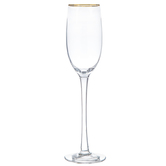 Champagne Glass with Gold Rim